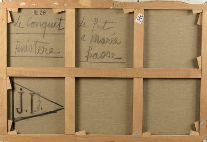 Bernard BUFFET (1928-1999)  Le Conquet, le port à marée basse, 1973  Huile sur...