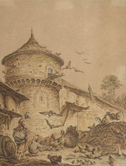 École FRANCAISE du XVIIIe siècle  La cour...
