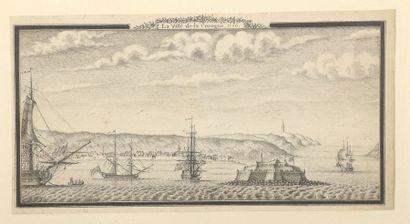 École FRANCAISE, 1736  Vue de la ville de...