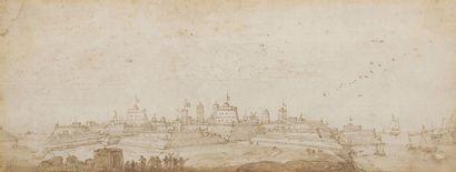 École FRANCAISE du XVIIIe siècle  Vue d'une...