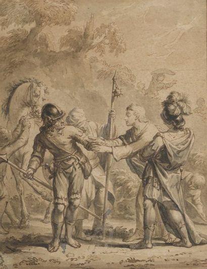 École HOLLANDAISE du XVIIIe siècle  Un aveugle...