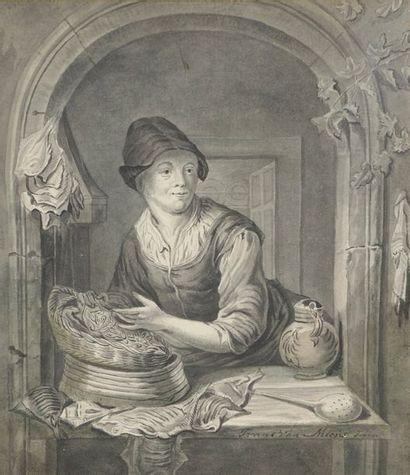 Frans van MIERIS le JEUNE (Leyde 1689-1763)...