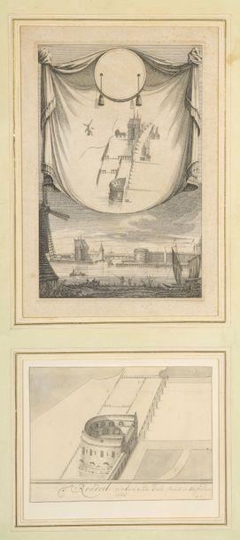 École HOLLANDAISE du XVIIIe siècle  Vue...