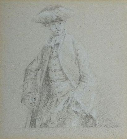 École HOLLANDAISE du XVIIIe siècle  Un gentilhomme...