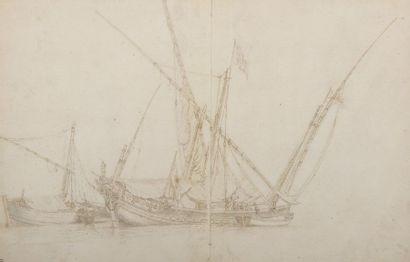 École HOLLANDAISE du XVIIe siècle  Un navire...