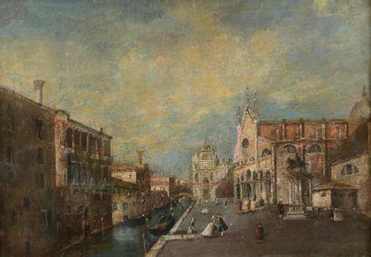 Ecole du XVIIIème siècle Vue de Venise Toile...