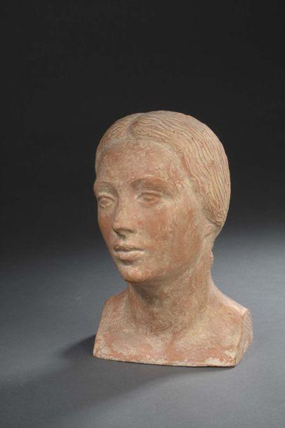 Albert BOUQUILLON (1908-1997)  Tête de femme...