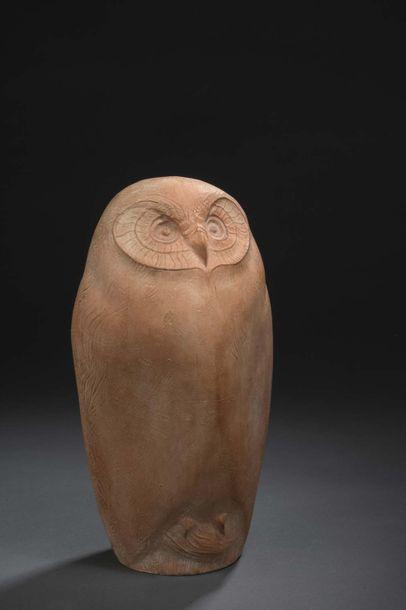 Albert BOUQUILLON (1908-1997)  Chouette,...