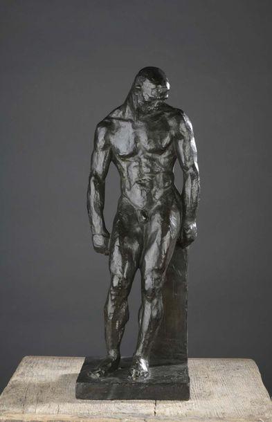 Albert BOUQUILLON (1908-1997)  L'Athlète vaincu, 1934  Épreuve en bronze à patine...