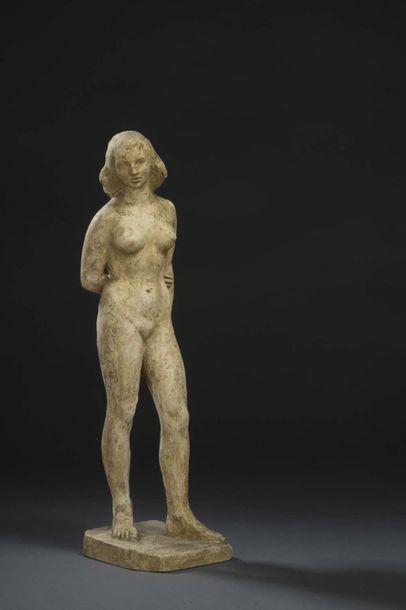 Albert BOUQUILLON (1908-1997)  Femme bras...