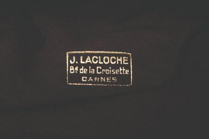 LACLOCHE  Bracelet manchette en or deux tons 18k 750‰, composé de deux larges pattes...