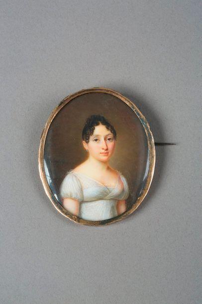 Jacques DELAPLACE (1767-1831)  Broche en...