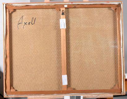 Evelyne AXELL (1935-1972) Sans titre Technique mixte et collage sur toile. 70...