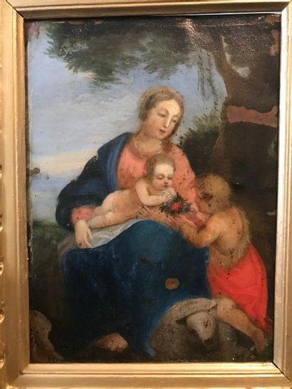 Ecole FRANCAISE du XVIIème siècle Vierge...