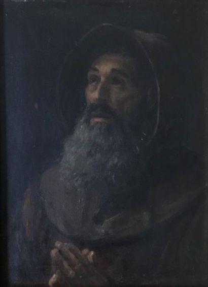Edouard BRANDON (1831-1897) Le capucin Huile...