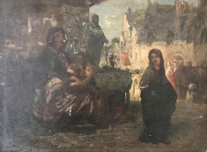 Jules CORNILLIET (1830-1886) Scène animée...