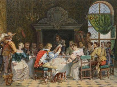 École du XIXe siècle Un banquet au XVIIe...