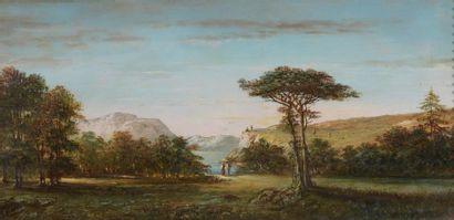 E. FERRIÈRE (actif au XIXe siècle) Paysages...