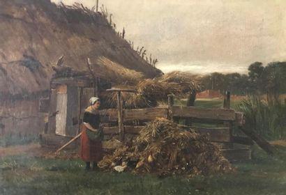 Hermann VOGEL-PLAUEN (1854-1921) Paysanne...