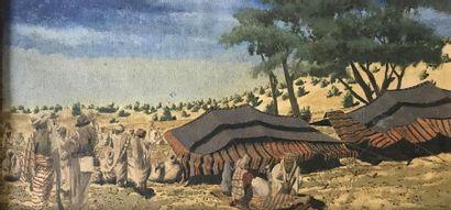 Ecole Orientaliste (XXs) El Gharib Huile...