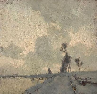Alexandre JACOB (1876-1972) Paysage d'hiver...