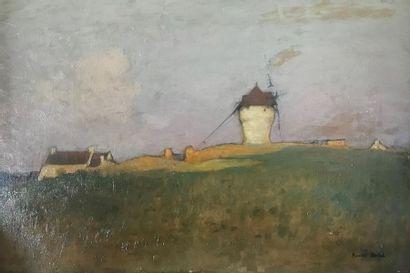 Amédée BUFFET (1869-1934) Le moulin Huile...