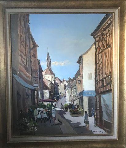 Gérard BARTHELEMY (1927-2016) Rue de village...
