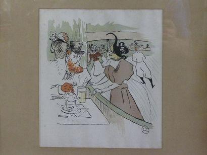 D'après Toulouse LAUTREC (1864-1901) Estampe...