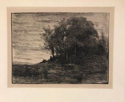 D'après Camille COROT (1796-1875) Deux paysages...