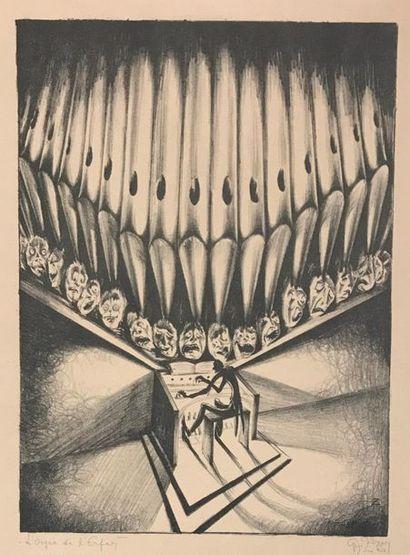 L'Orgue de l'Enfer Lithographie Monogrammée...