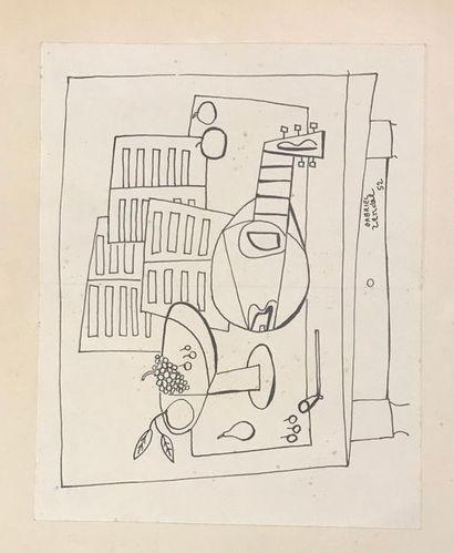 Gabriel ZENDEL (1906-1992) Intérieur à la...