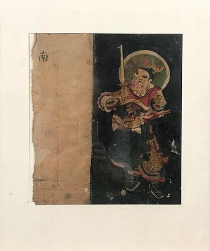 TIBET Ensemble de trois peintures provenant...