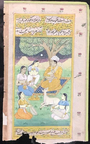 Miniature indienne de style Moghole Joueur...