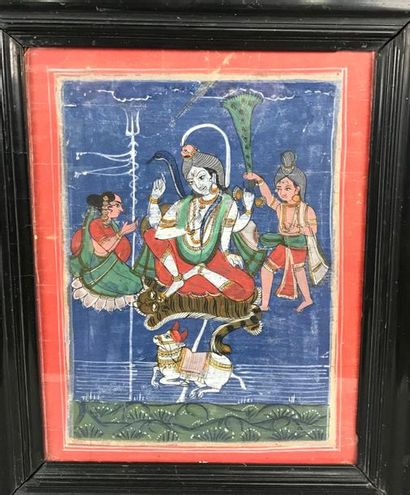 *Miniature indienne représentant Shiva 31,5...