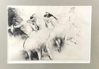*Louis LEGRAND (1863-1951) Les danseuses Deux gravures signées