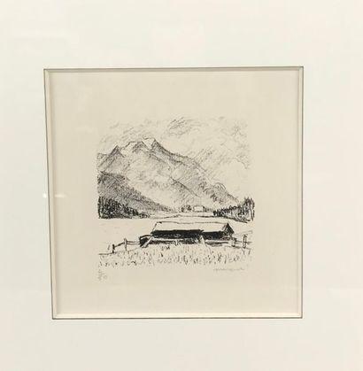 *Lot comprenant : - Maurice ASSELIN (1882-1947) Nus Deux gravures signées - Albert...