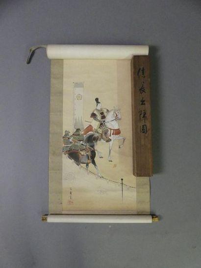 Kokô IWASA (1884-1951) Cavaliers Peinture...