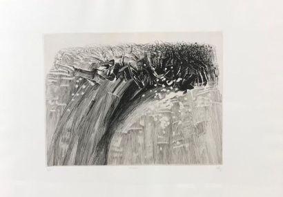 *Akira ABE (né en 1949) Niveau et source Deux gravures, signées, titrées, datées...
