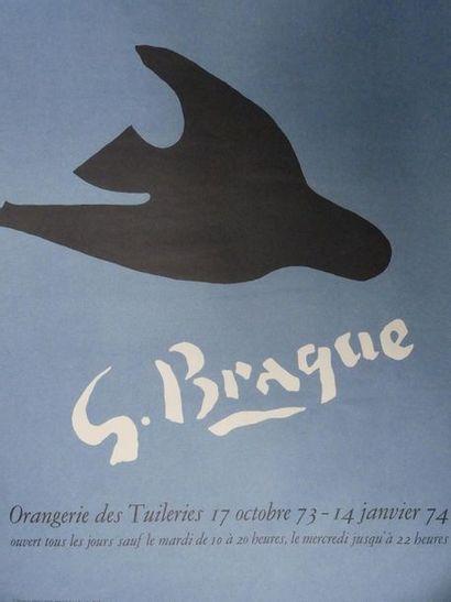 Georges BRAQUE (1882 – 1963) Affiche d'exposition...