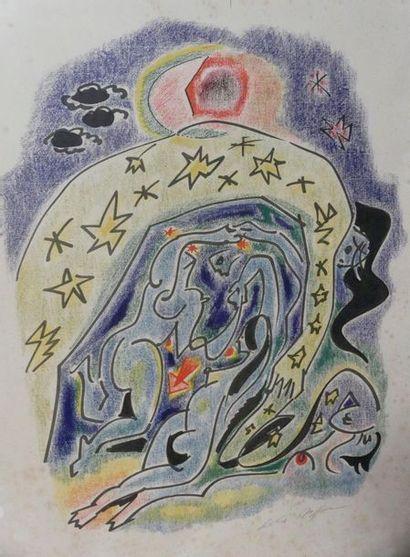 André MASSON (1896 – 1987) Sans titre Lithographie...