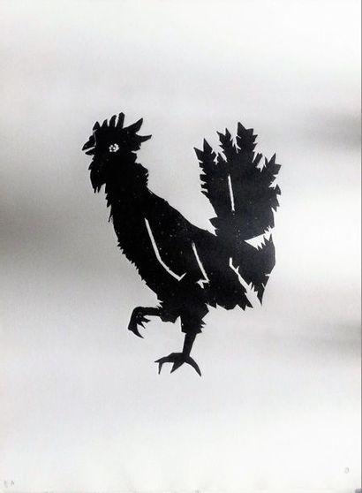 Jean COCTEAU (1889 - 1922) Coq Gravure en...