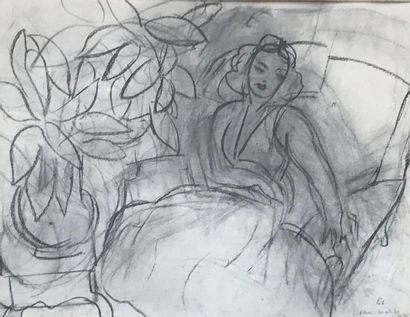 REPRODUCTION D'HENRI MATISSE Femme assise...