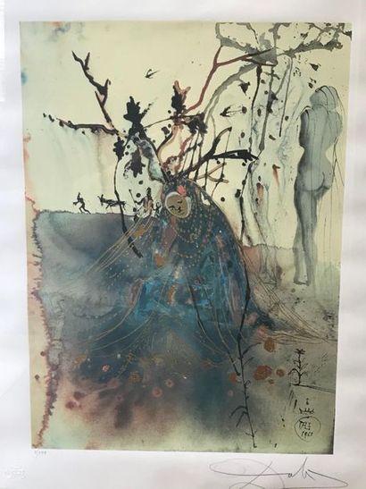 Salvador Dali Impression sur papier, porte...