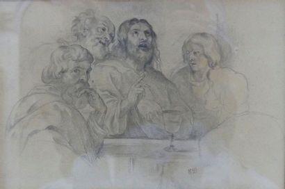 Atelier d'Eugène Delacroix Le repas à Emmaus,...