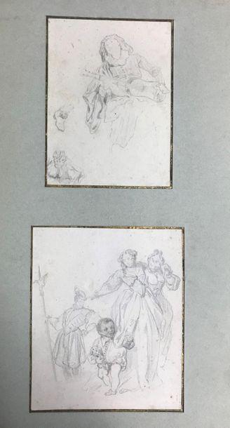 *Attribué à Eugène DEVÉRIA (1808-1865) Scène...