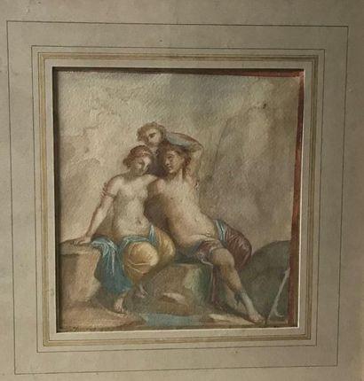 Ecole XIXe siècle D'après une fresque de...