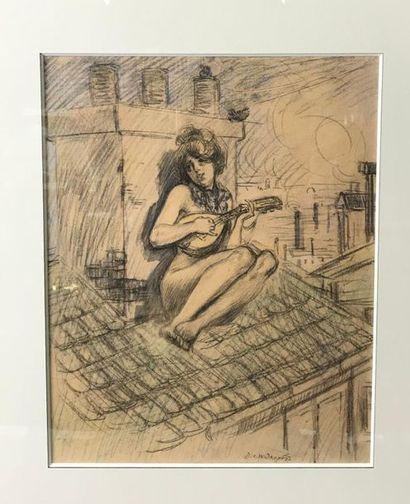 *David WIDHOPFF (1867-1933) La joueuse de...