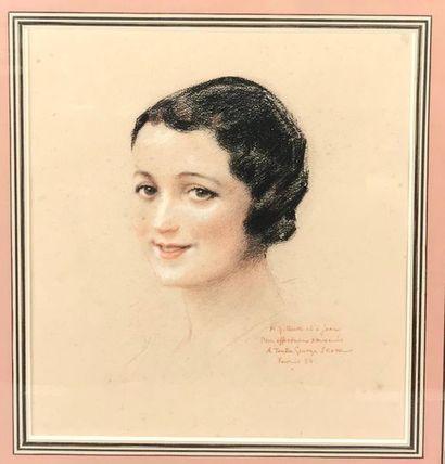 *Georges SCOTT (1873-1942) Portrait de femme...