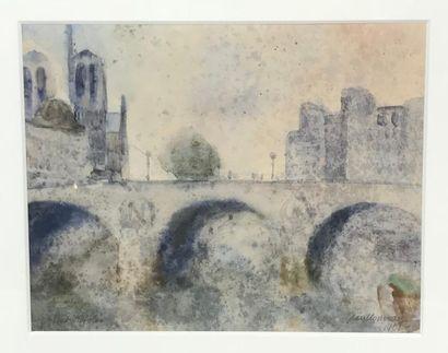 *Jean NOUVEAU (Xxe) Paysages dont vues d'Orléans...