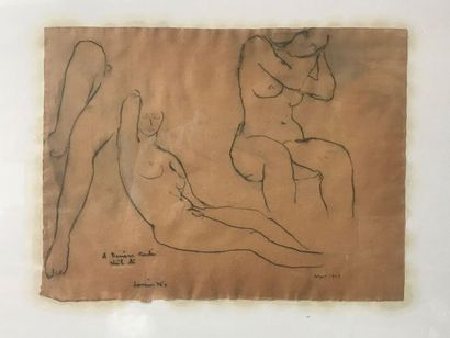 Louis NALLARD (1918-2016) Sans titre, 1943...